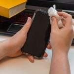How to sanitize cell phone