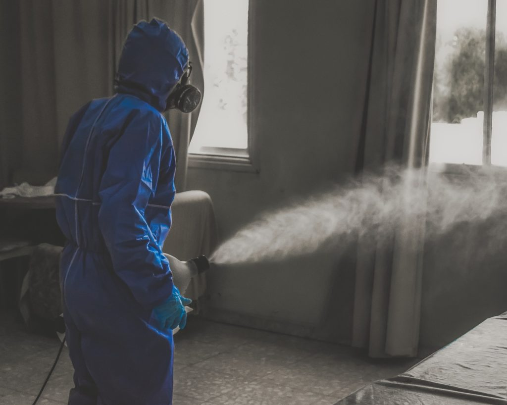 Disinfecting through fogging