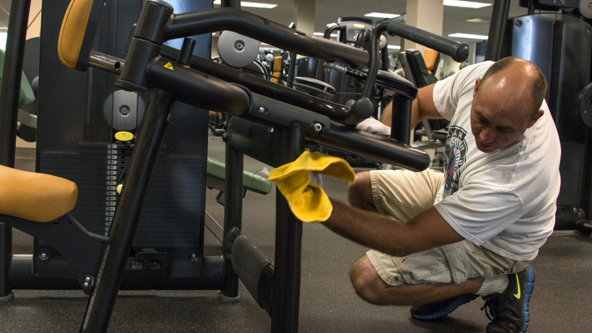 How to sanitize gym equipment