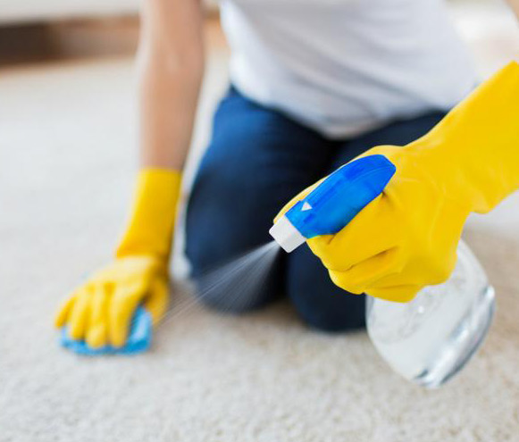 Carpet cleaning with vinegar